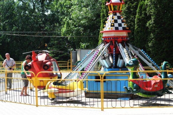 Парк аттракционов Прио-Лэнд в Парке железнодорожников