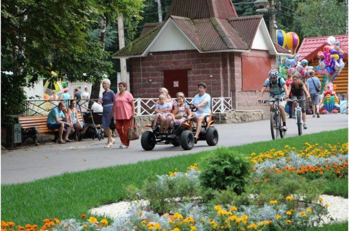 Центральный парк культуры и отдыха имени Петра Белоусова, с зооуголком