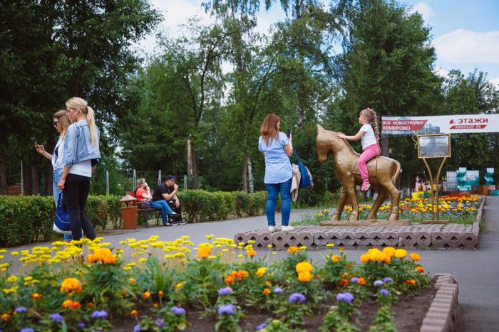 Парк «Берёзовая роща», набережная Томи и памятники