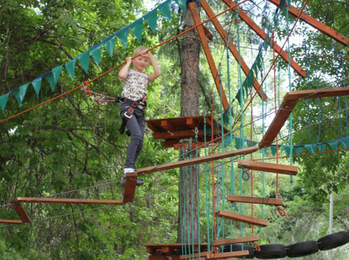 Верёвочный парк в Парке имени Гагарина